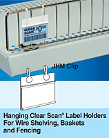 hangin clear scan label holder