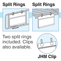 hanging label holders for paper labels - insert