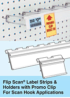 flip scan label strip & holder with promo clip