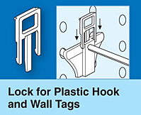 Lock for Plastic Hooks and Wall Tags