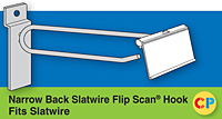 Fish Tip Slat wall Scanning Hooks