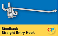 Steelback Straight Entry Hooks