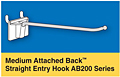 Medium Attached Back Straight Entry Hooks
