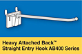 Heavy Attached Back Straight Entry Hooks