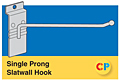 Single Prong Slatwall Hooks