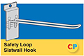 Safety Loop Slatwall Hooks