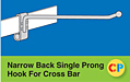 Narrow Back Single Prong Hooks