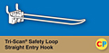 Tri-Scan Safety Loop Straight Entry Hooks-Fits Corrugated Metal Panels