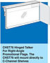 CHST76 Hinged Talker - For Right Angle Promotional Flags