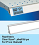 Rigid-back Clear Scan Label Strips