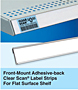 Front-Mount Adhesive-back Clear Scan Label Strips