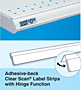 Adhesive-back Label Strips with Hinge Function