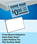 Front-Mount Adhesive-Back Label Holder