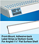 Front-Mount, Adhesive-back Label Strips with Bottom Guide