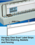 Hanging Clear Scan Label Strips for Plain Paper Labels