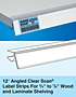 12º Angled Clear Scan Label Strips
