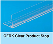 OFRK Clear Front Product Stop for Pusher and Dividers