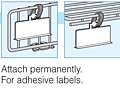 hanging label holders for adhesive